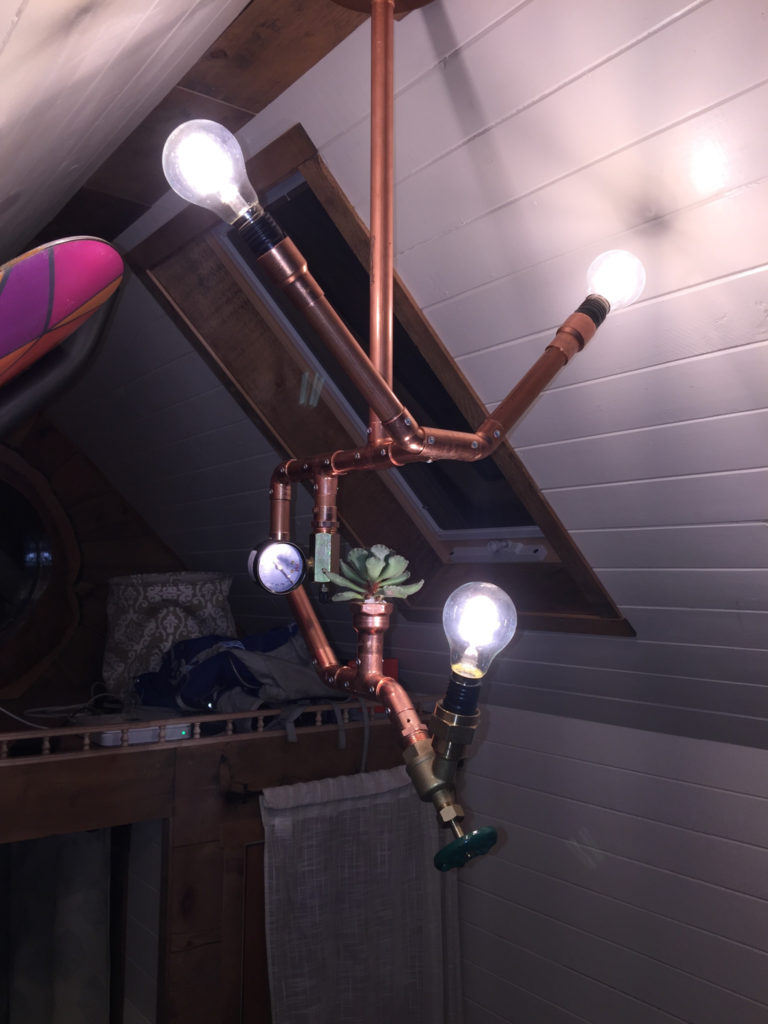 Copper Out Pipes Lamp