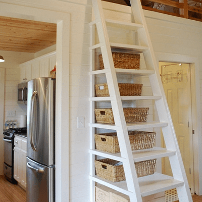 Loft Stairs – Tinyhousejoy | Spiral Staircase Into Loft | Loft Conversion | Small Spaces | Tiny House | Space Saving | Staircase Design