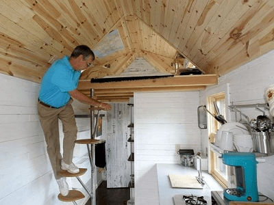 Loft Stairs – Tinyhousejoy   Tiny Home Spiral Staircase   Multi Purpose   Stair   Creative   Bedroom   Rooftop Deck