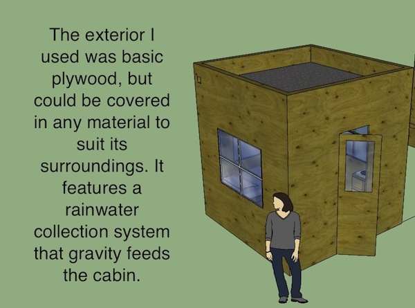 8x8 Tiny House Design By Hunter