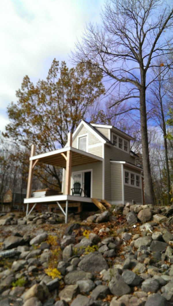 Two Story Tiny Cabin On Butler Island In Vermont