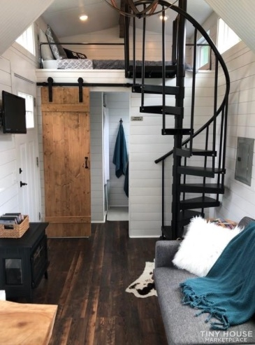 Tiny House With Spiral Staircase To The Master Loft | 9 Foot Spiral Staircase | 36 Tall | Stair Kit | Modern Staircase | Dolle Toronto | Stair Parts