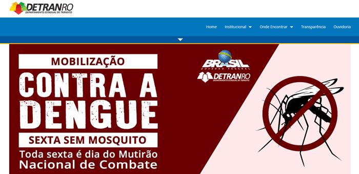 site do detran Rondônia