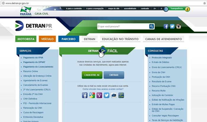 Consulta de multas Detran PR