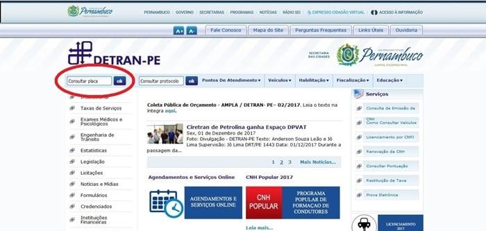 Consultar multas Detran PE