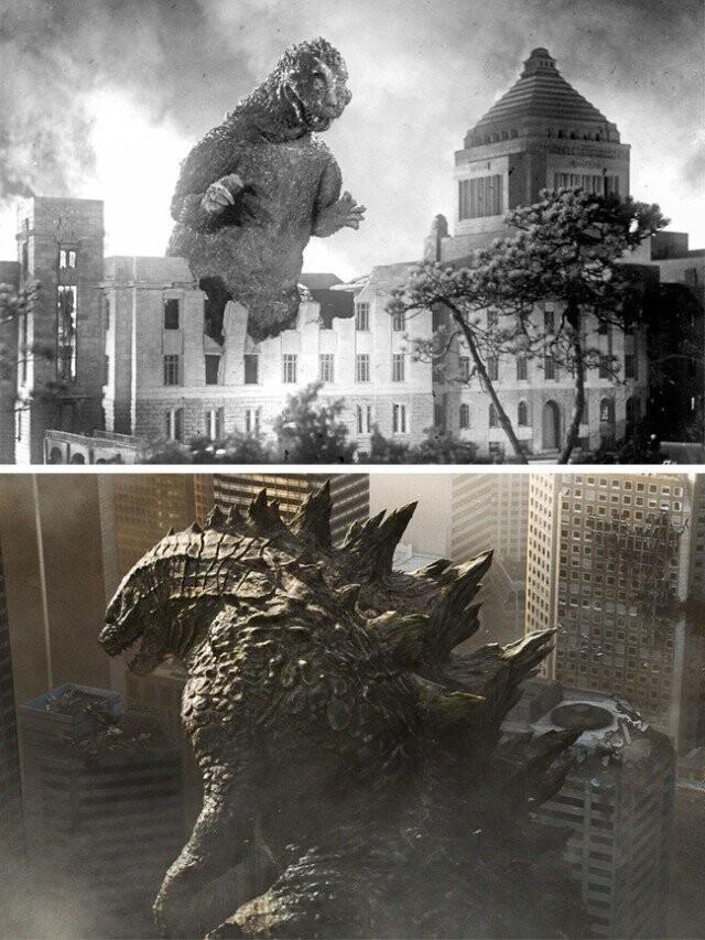 """""""Godzilla دوباره حمله"""" 1955 و """"Godzilla"""" 2014"""