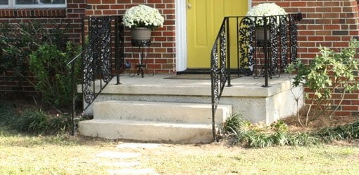 How To Repair And Paint Metal Wrought Iron Handrails Today S | Metal Handrails For Outdoor Steps | Outside | Hand | Backyard | Wood | Contemporary