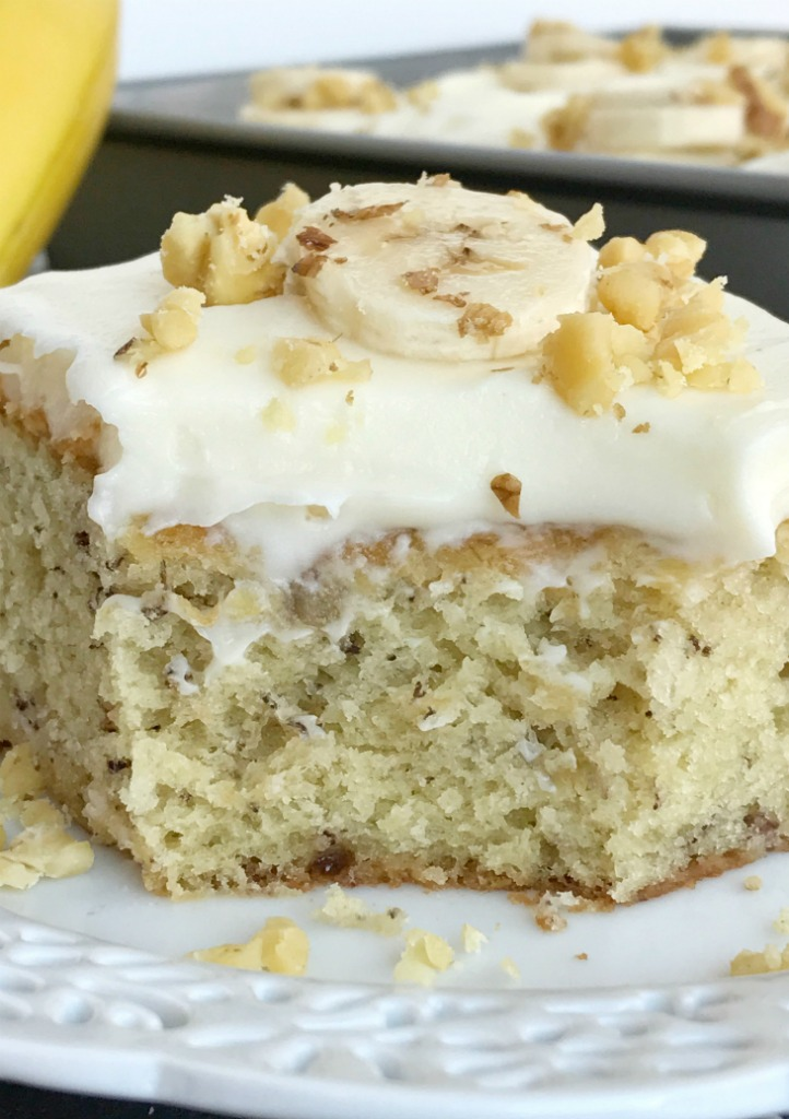 Banana Cake Cream Cheese Icing