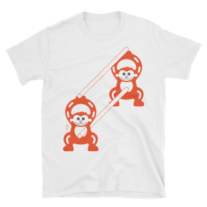 Monkeys at Work - Japanese construction fence - Tshirt