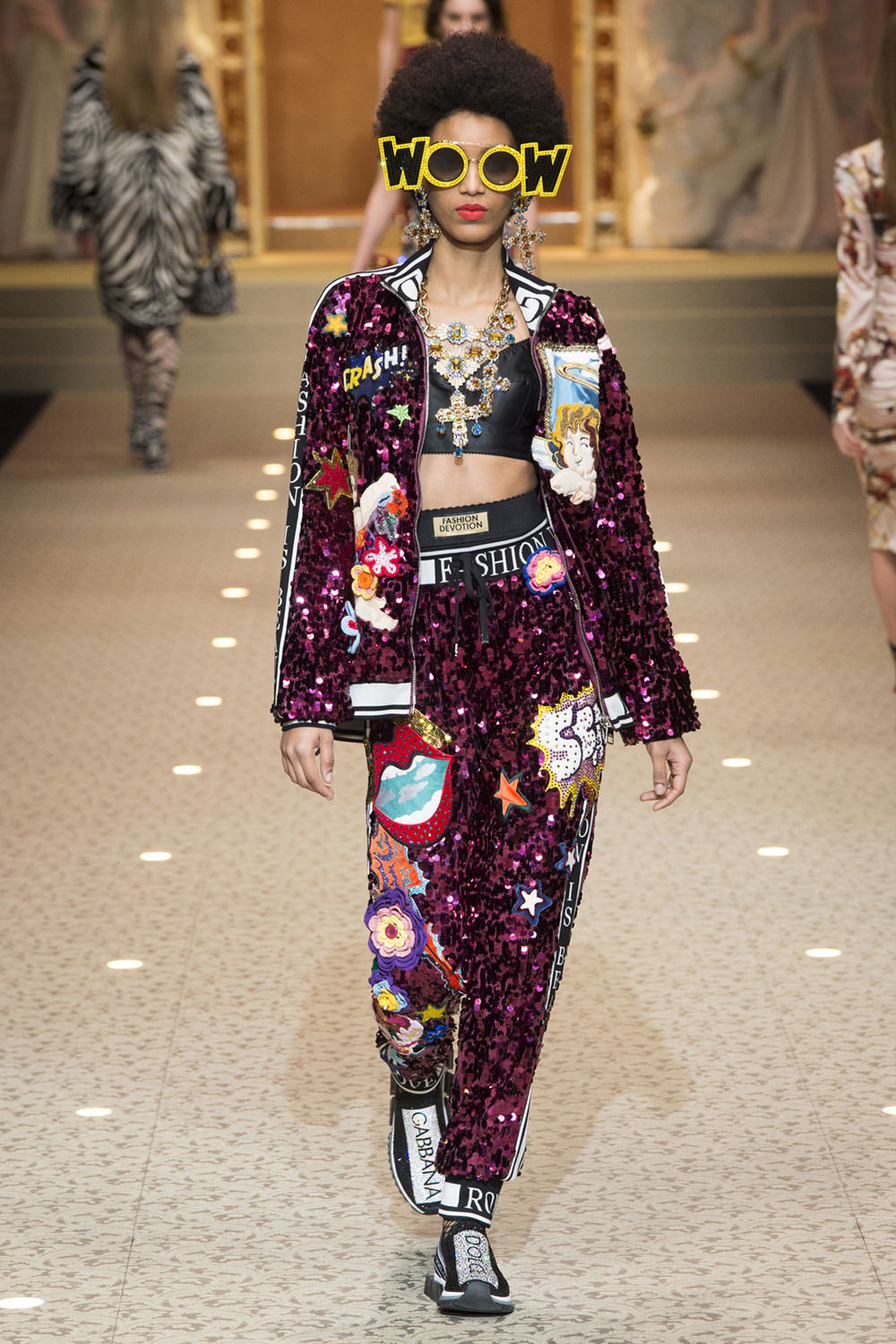 Dolce Gabbana Sequin Embellished Tracksuit Yea Cray Fall 2018     Archives