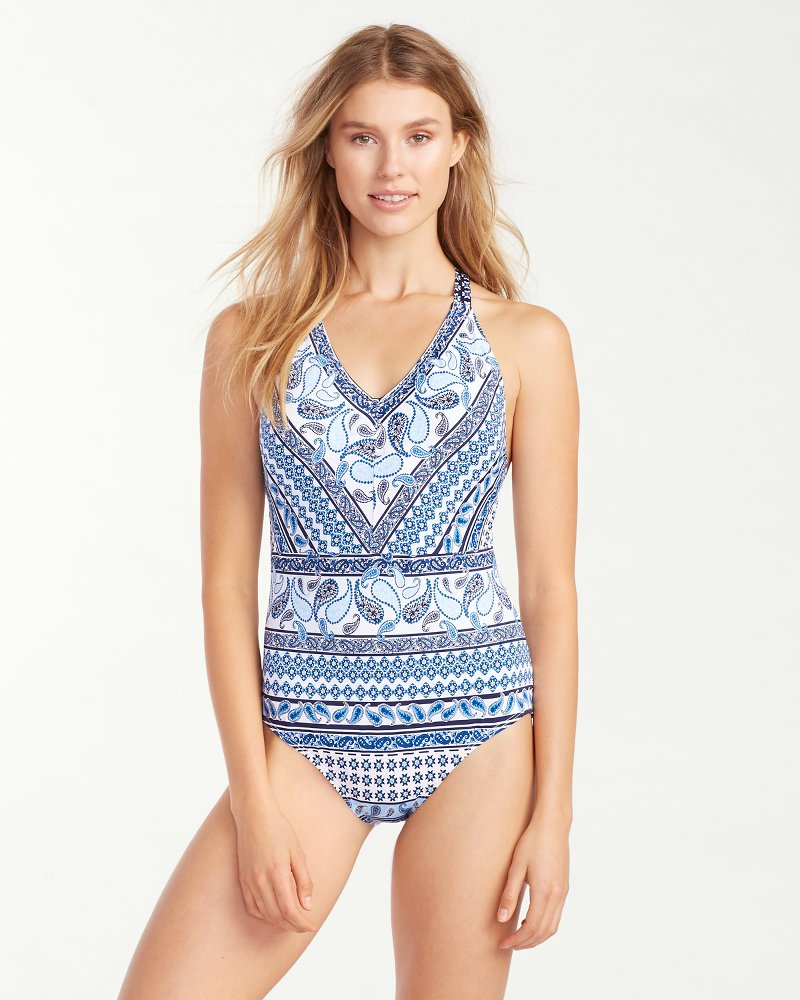 Paisley Terrace Engineered Low Back One Piece Swimsuit