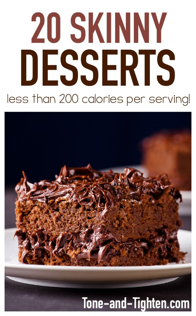 20 Skinny Desserts Under 200 Calories Each Tone And Tighten