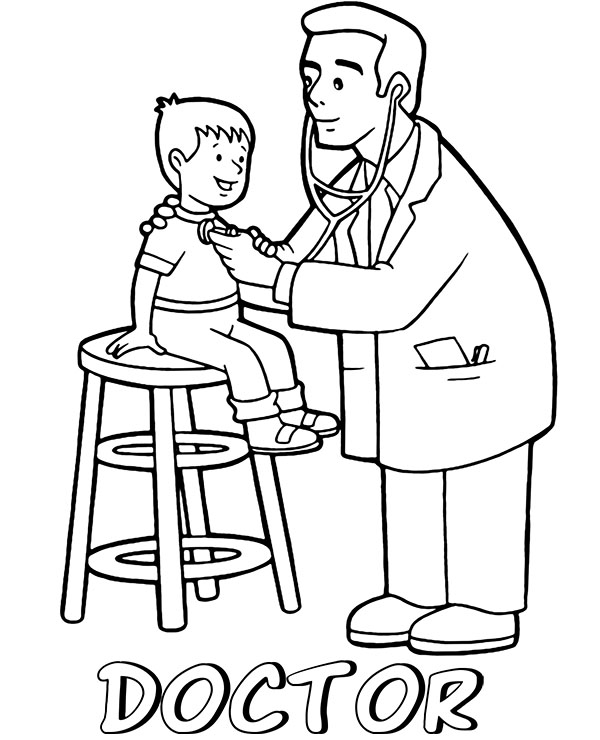 doctor coloring page # 44