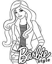 barbie coloring pages # 9