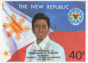 President Marcos On Philippines Stamps