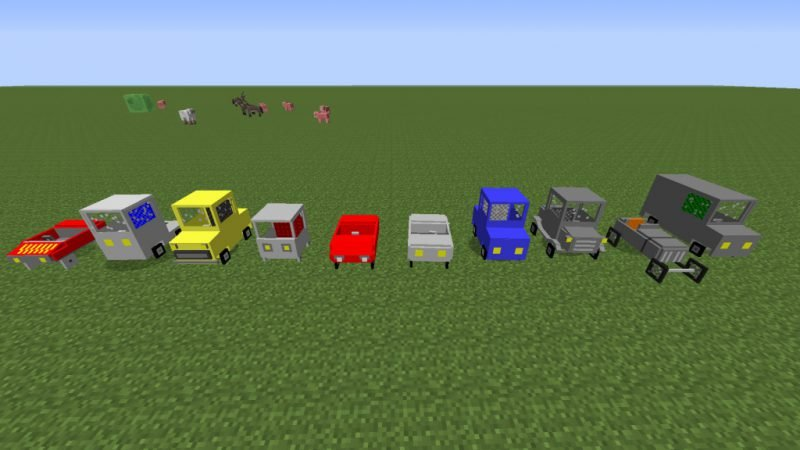 Minecraft'ta Farklı Arabalar