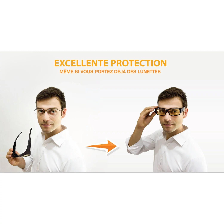 meilleur site web nouveau sommet choisir le plus récent Lunettes Anti Lumière Bleue - Surlunettes Enveloppantes pour une Protection  Supérieure