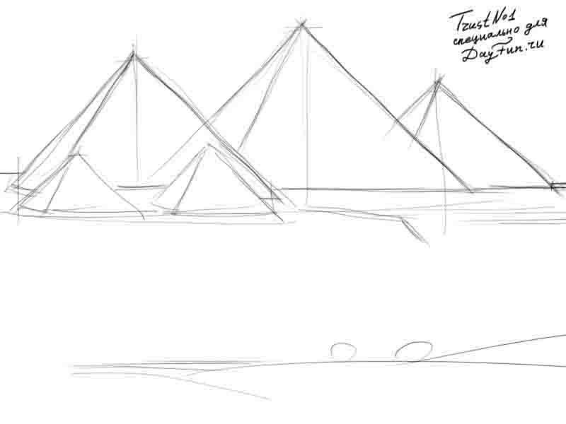Nous dessinons les pyramides des hups