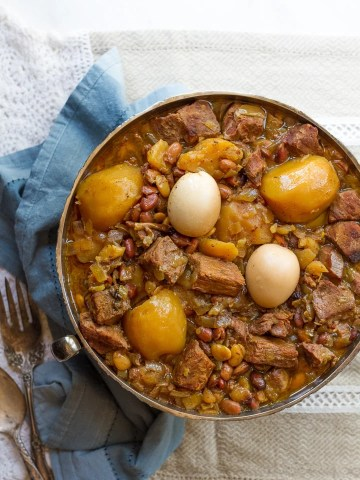 Cholent   Jewish Slow Cooked Stew   Recipe   History Cholent   Slow cooked stew for Shabbat  also known as Chamin  Dafina