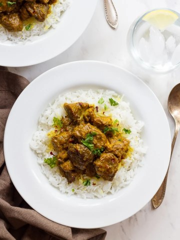 Persian Lamb Stew   Tori Avey Persian Lamb Stew   Simple stew with meat  turmeric  and chili pepper  flakes
