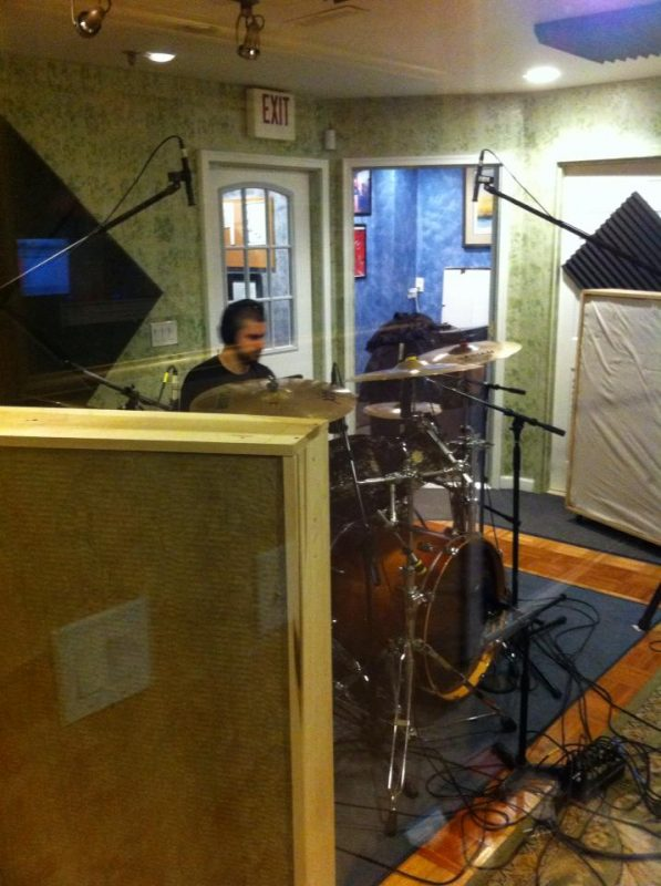 Justin blasting it up recording At What Cost