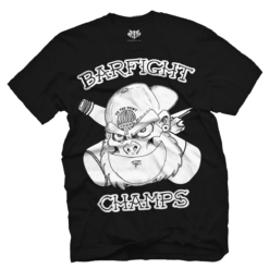 Barfight Champs - Official T Shirt - Ape - Boston Hardcore Music