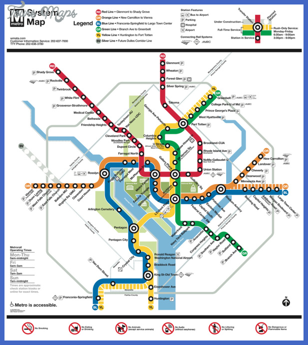 Washington Dc Metro Rail Map Pdf