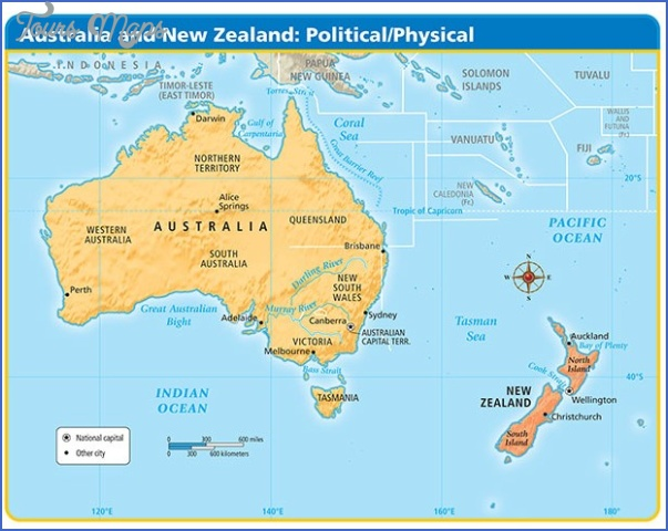 Map Of Australia Nz.Map Australia And Nz