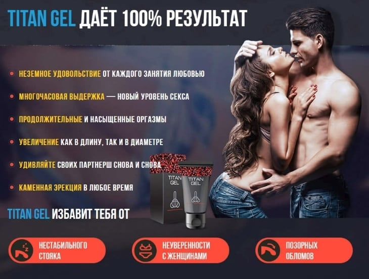 Главные преимущества Titan Gel