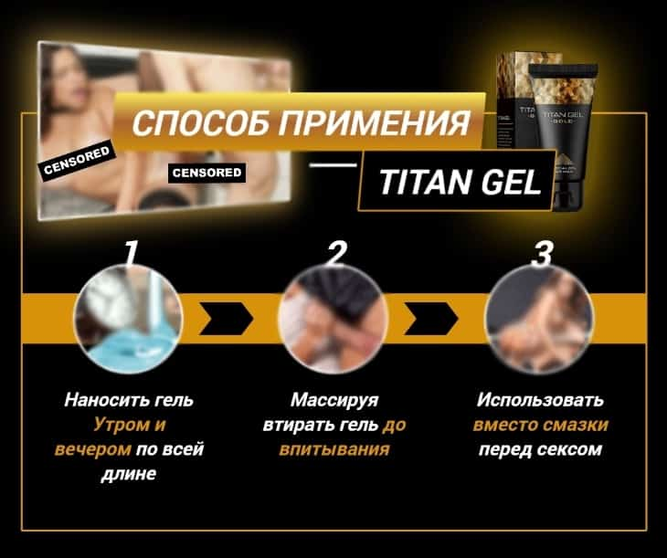 Titan gel. Отзывы геле титан.