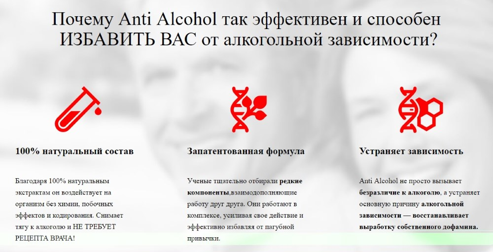 Главные преимущества Anti Alcohol