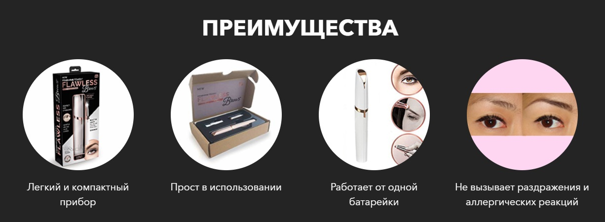 Главные преимущества Flawless Brows