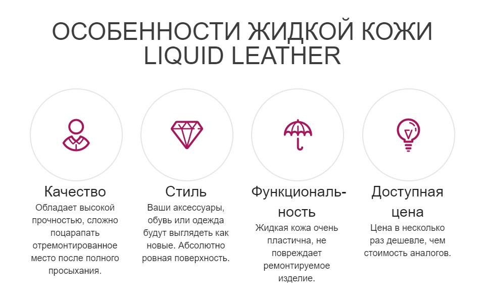 Главные преимущества Liquid Leather