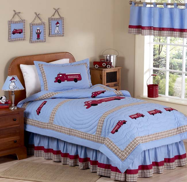 Fire Truck 4pc Twin Bedding Set Children S Bedding