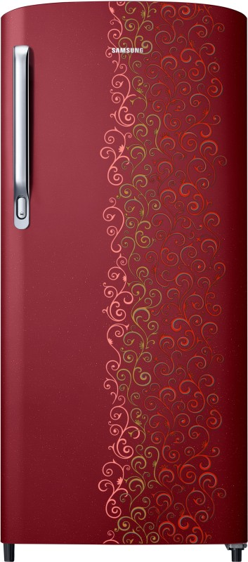 SAMSUNG 192 L Direct Cool Single Door Refrigerator(RR19M1712RJ-HL/RR19M2712RJ-NL, Royal Tendril Red, 2017)