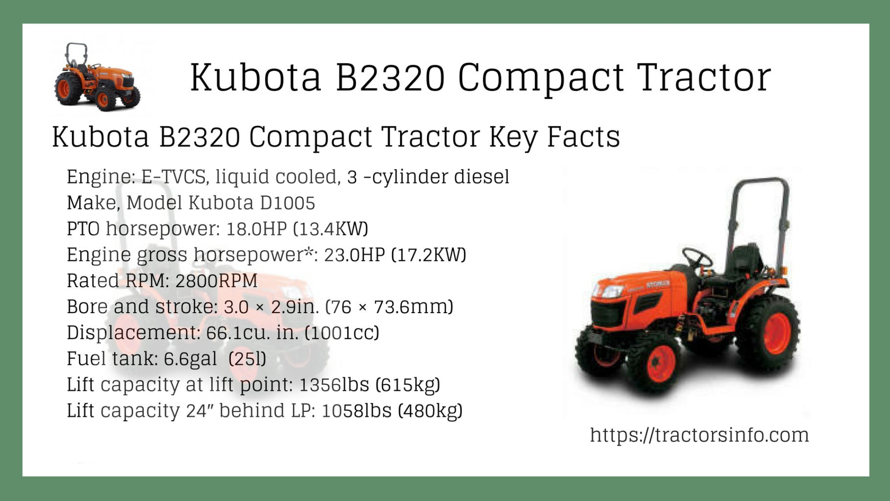 Attachments Kubota B2650