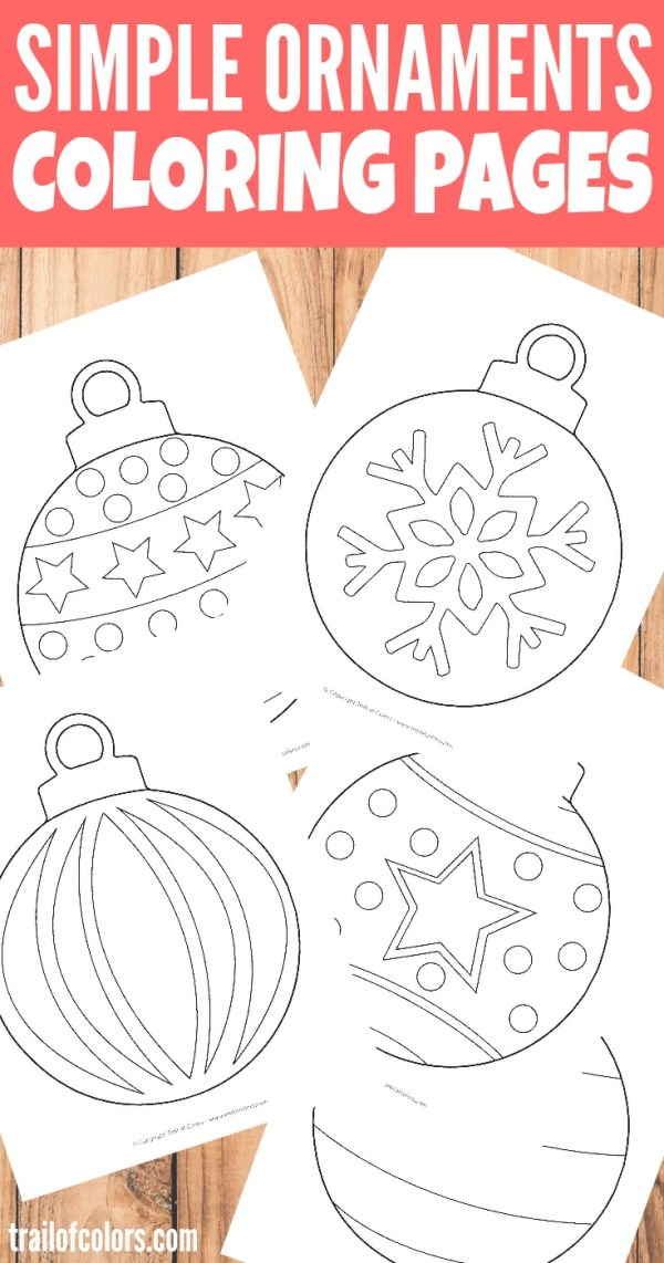 christmas ornament coloring page # 19