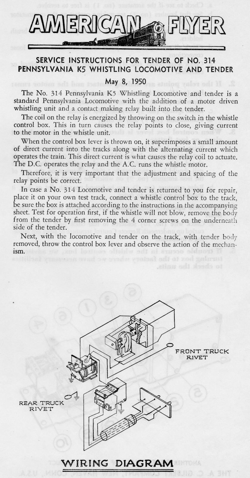 American Flyer Parts Diagrams