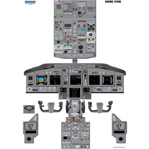 737 Ng Cockpit Training Poster