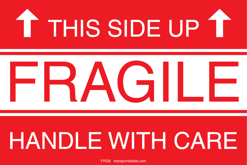 This Side Up Fragile Labels | transportlabels.com