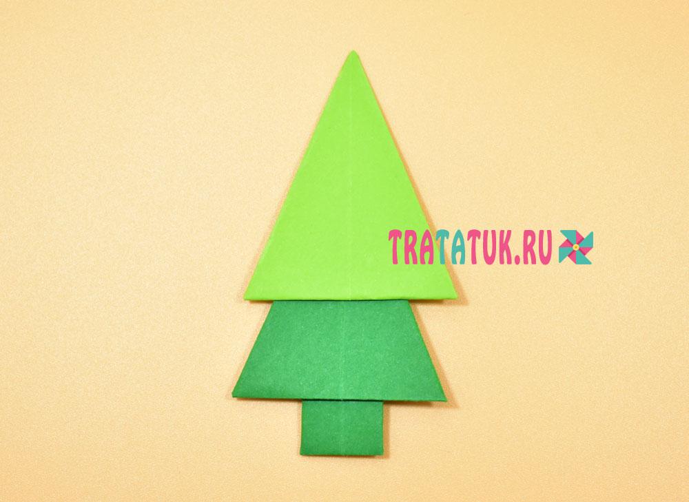 Рождестволық ағаш-оригами