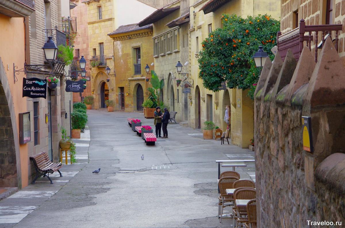 Spanyol falu a Mount Montjuic-on