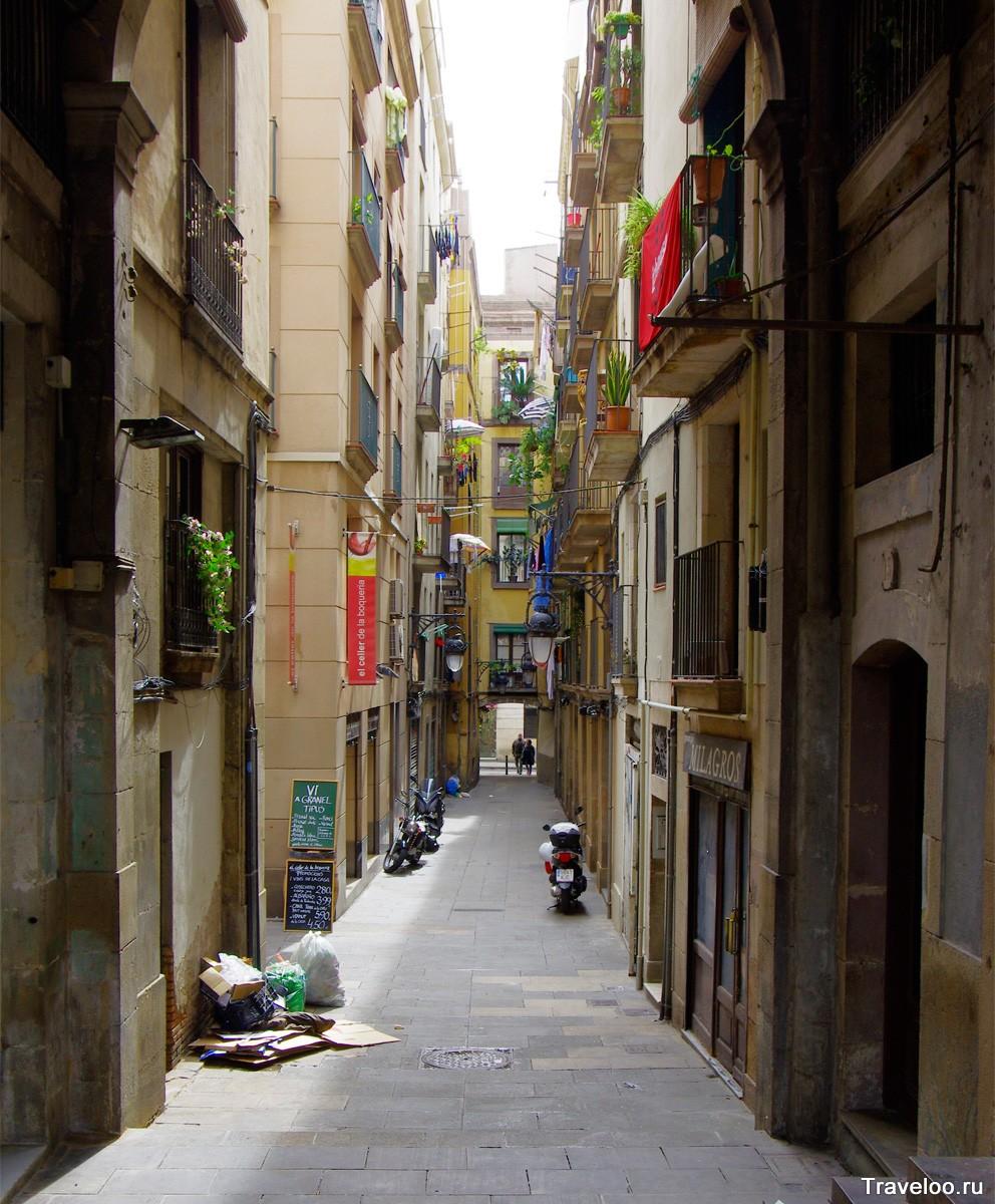 Gotik Mahallesi'nin sokakları