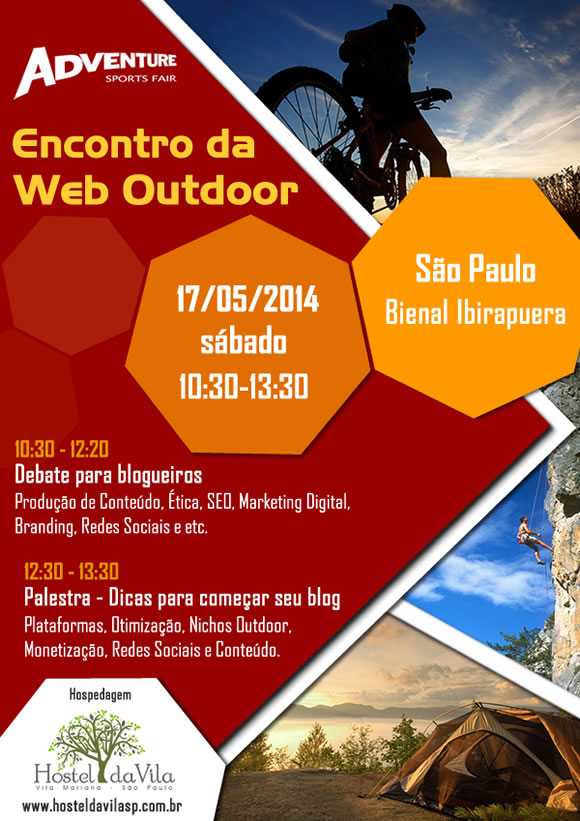 Encontro de blogueiros outdoor na Adventure Sports Fair