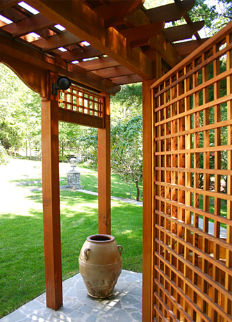 Pergola With Privacy Lattice No Bp11 By Trellis Structures