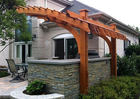 Contemporary Outdoor Kitchen Pergola No  KP6   by Trellis Structures Contemporary Pergola No  KP6b