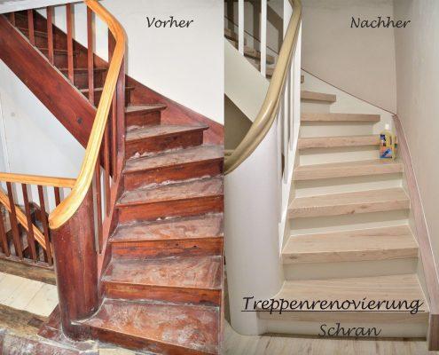 Treppenrenovierung Holztreppe - Treppen-Renovierungen Schran