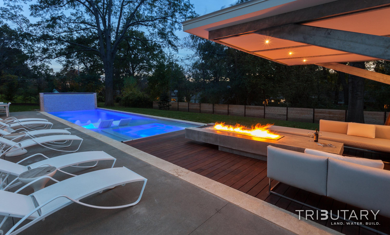 Geometric Mid Century Modern Tributary Pools Amp Spas