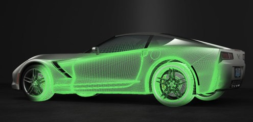 3D Car Animation Model Design Goes Viral   Trinity Animation     a 3D car model that combined the best of everything then known about  the likely C7 design  to use in a car animation that we would create for  fun
