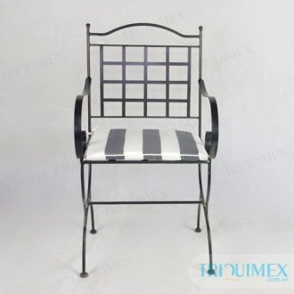Wrought iron chair for outdoor  patio and garden  Triquimex GH 145 aesthetic wrought iron chair from Triquimex